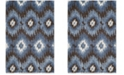 Safavieh Retro Dark Brown and Blue 3' x 5' Area Rug