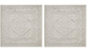 "Safavieh Adirondack Ivory and Silver 6'7"" x 6'7"" Square Area Rug"