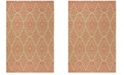 """Martha Stewart Collection Natural and Beige 4' x 5'7"""" Area Rug, Created for Macy's"""