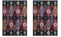 Safavieh Cherokee Black and Red 8' x 10' Area Rug