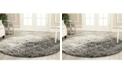 Safavieh Retro Black and Gray 4' x 4' Round Area Rug
