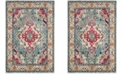 Safavieh Monaco Light Blue and Fuchsia 12' x 18' Area Rug