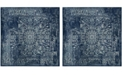 Safavieh Evoke Navy and Ivory 9' x 9' Square Area Rug