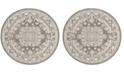 Safavieh Reflection Dark Gray and Cream 5' x 5' Round Area Rug