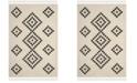 Safavieh Moroccan Fringe Shag Cream and Charcoal 4' X 6' Area Rug