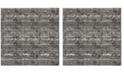 "Safavieh Lurex Black and Gray 6'7"" x 6'7"" Square Area Rug"