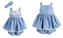Bonnie Baby Baby Girls 2-Pc. Chambray Bubble Dress & Headband Set
