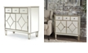 Noble House Torin Mirrored 5 Drawer Cabinet End Table