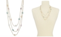 "Charter Club Gold-Tone Imitation Baroque Pearl Layered Necklace, 20"" + 2"" extender, Created for Macy's"