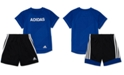 adidas Toddler Boys 2-Pc. Logo Graphic T-Shirt & Shorts Set