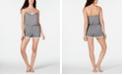 Alfani Ultra Soft Contrast-Trim Pajama Romper, Created for Macy's