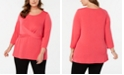 Alfani Plus Size Crossover-Detail Top, Created for Macy's