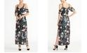 RACHEL Rachel Roy Off The Shoulder Printed Jersey Maxi Dress