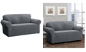 P/Kaufmann Home Stretch Sensations Stretch Ogee Slipcover for a Loveseat.