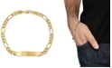 Macy's Men's Figaro Link ID Bracelet in 10k Gold