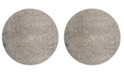 "Safavieh Meadow Taupe 6'7"" x 6'7"" Round Area Rug"