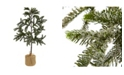 Nearly Natural 3' Iced Pine Tree w/ Burlap Base
