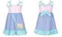 Blueberi Boulevard Toddler Girls Watermelon Gingham Dress