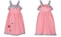Good Lad Toddler Girls Gingham Seersucker Star Dress