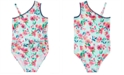 Solo Toddler Girls Floral-Print Swimsuit