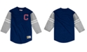 Mitchell & Ness Men's Cleveland Indians Heyday Henley T-Shirt