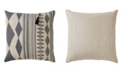 "Jaipur Living Nikki Chu By Lonyn Beige/Gray Geometric Poly Throw Pillow 22"""