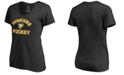 Authentic NHL Apparel Women's Pittsburgh Penguins Overtime V-Neck T-Shirt