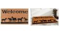 """Home & More Horses Welcome 17"""" x 29"""" Coir/Vinyl Doormat"""