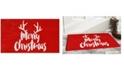 "Home & More Christmas Antlers 17"" x 29"" Coir/Vinyl Doormat"