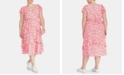 RACHEL Rachel Roy Plus Size Ruffled Floral-Print Dress