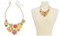 "INC International Concepts I.N.C. Gold-Tone Crystal & Stone Multi-Motif Statement Necklace, 18"" + 3"" extender, Created for Macy's"