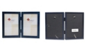 """Lawrence Frames Hinged Double Blue Wood Picture Frame - Gallery Collection - 4"""" x 6"""""""