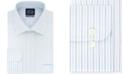 Eagle Men's Classic/Regular Fit Non-Iron Flex Collar Blue Stripe Dress Shirt