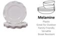 Certified International Perlette Cream Melamine 4-Pc. Dinner Plate Set