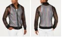 INC International Concepts I.N.C. Men's Pride Rainbow Mesh Bomber Jacket, Created for Macy's