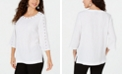 JM Collection Studded Crinkle Texture Top, Created for Macy's