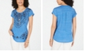 Style & Co Graphic Scoop-Neck Top, Created for Macy's