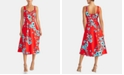 RACHEL Rachel Roy Floral-Print Cutout Fit & Flare Dress