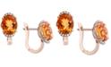 EFFY Collection EFFY® Citrine (4-1/3 ct. t.w.) & Diamond (1/10 ct. t.w.) Drop Earrings in 14k Gold