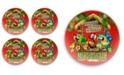 TarHong Tiki Bar Red Dinner Plate, Set of 4