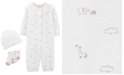 Carter's Baby Girls 3-Pc. Printed Cotton Coverall, Hat & Socks Set