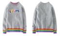 Levi's x Crayola Toddler Girls Rainbow Rib Chenille Logo Sweatshirt