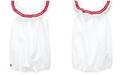 Polo Ralph Lauren Baby Girls Striped Ruffled Shortall