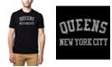LA Pop Art Mens Premium Blend Word Art T-Shirt - Queens NY Neighborhoods
