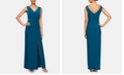 Alex Evenings Petite Embellished Knot-Front Gown