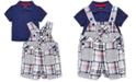 Little Me Baby Boys 2-Pc. Cotton Polo Shirt & Shortall Set