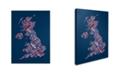 "Trademark Global Michael Tompsett 'United Kingdom VI' Canvas Art - 24"" x 16"""