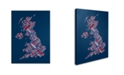 "Trademark Global Michael Tompsett 'United Kingdom VI' Canvas Art - 14"" x 19"""