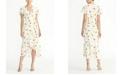 RACHEL Rachel Roy Ruffle Sleeve Printed Georgette Midi Dress