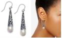 Macy's Cultured Freshwater Pearl (7-1/2mm) Drop Earrings in Sterling Silver